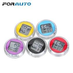 FORAUTO цифровой Дисплей мини-автомобиль часы Высокая точность HD зеркало электронные часы Авто электронные часы автомобиль орнамент