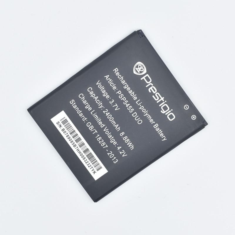 Hekiy 3.7V 2400mAh Replacement PSP5455 Battery For Prestigio PSP 5455 DUO Bateria Batterie Mobile Phone Batteries