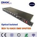 DHL Бесплатная Доставка оптический изолированный DMX дистрибьютор 8 способ dmx splitter для сценического освещения splitter