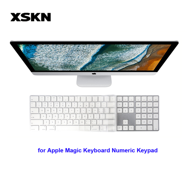 Piel del teclado XSKN para Apple iMac teclado mágico teclado numérico transparente TPU impermeable cubierta del teclado del ordenador portátil película protectora de la piel