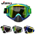 2016 Fashional Style Motocross Motorcycle Glasses Goggles Cool Frame with Colorful UV Lens