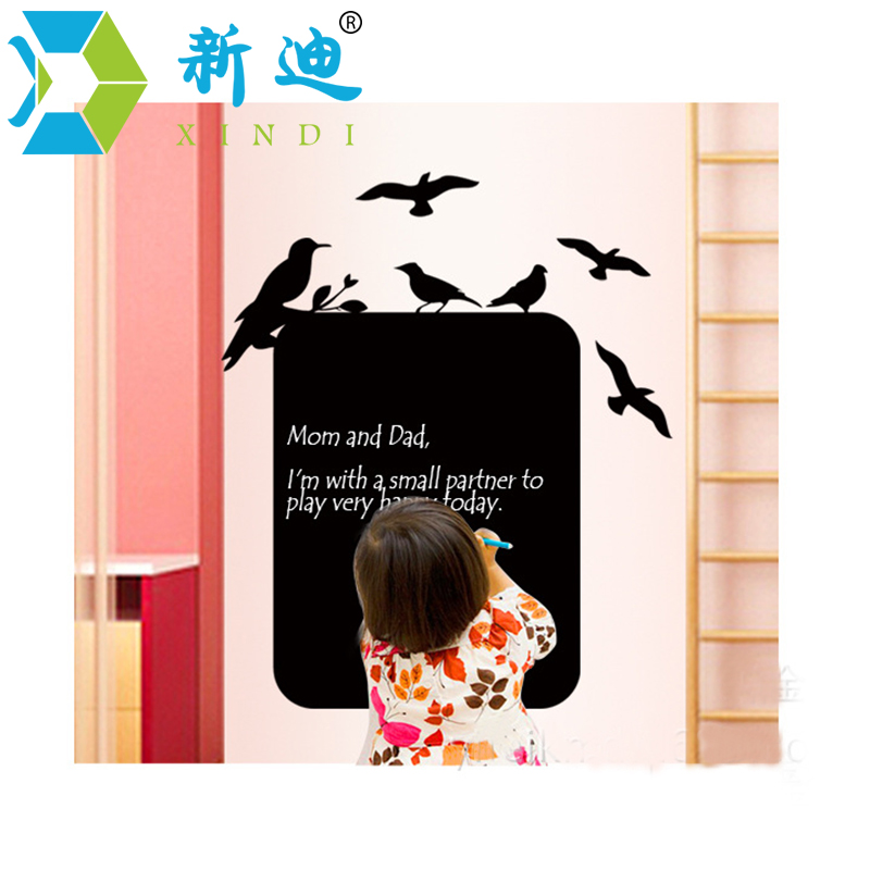 New Blackboard Stickers Living Room Wall-decoration Stickers Thick Black Stickers Children's Room Office Memo Message Board giraffe 3d wall stickers living room decoration