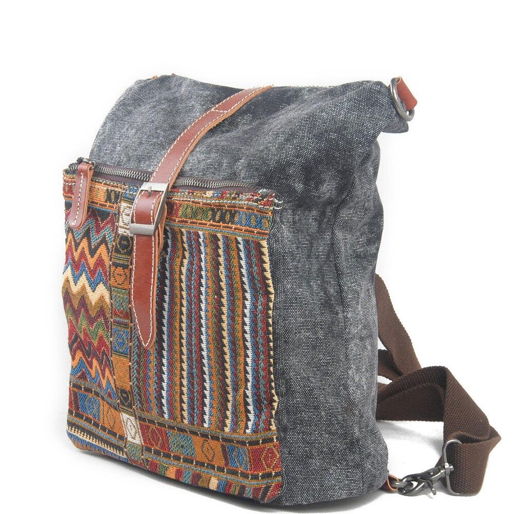 2016 ethnique toile sac à dos pour femmes National sacs à dos loisirs voyage sac à dos broderie sac à dos mode étudiant sac d'école