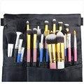 Profissional Black PU Leather Cosmetic Makeup Brush Large Apron Bag Beauty Artist Case Belt Strap Waist Holder Barber Organizer