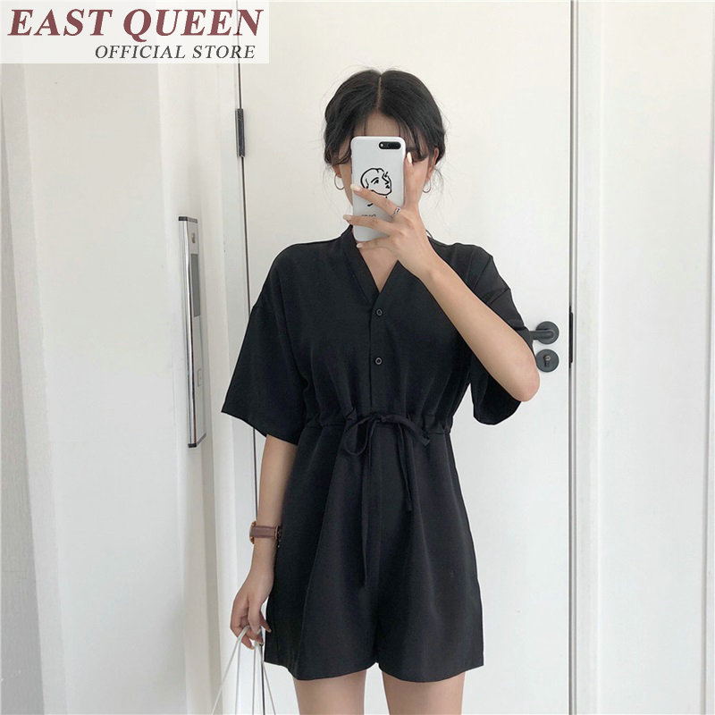 Jumpsuits & Rompers 2018 summer sexy solid summer sexy playsuit women jumpsuit female casual summer Jumpsuits & Rompers FF209 A