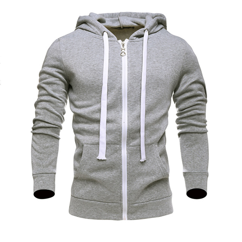 2017 new style Hoodies sweat Mens Cotton polyester thickened cardigan jacket Hoodie Sweatshirt Men Slim Fit Mens Hoody 6 color