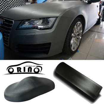 1.52*30M/Roll Gray Brushed aluminum Vinyl wrap Car wrapping Metallic Blue brushed steel Wrap Foil With Air Bubble Free
