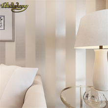 цены The new non-woven flocking simple striped wallpaper bedroom living room sofa backgroumd for wall paper R109