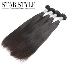 4pcs/lot Straight hair Unprocessed human hair extensions Star Style hair products Indian soft and full hair bundles No tangle