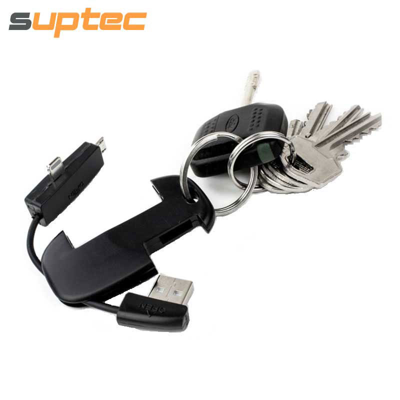 SUPTEC Portable <font><b>2</b></font> in <font><b>1</b></font> USB Cable Sync Data Charging Cable for iPhone <font><b>X</b></font> 8 <font><b>7</b></font> 6S 5S iPad Micro USB Cord for Samsung Xiaomi Huawei