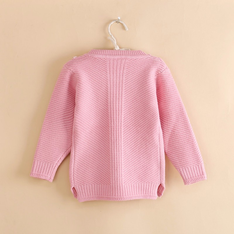 Cotton Girls Sweaters Solid O Neck Top Long Sleeve Clothes Pullover Knit Outerwear Autumn Winter Kids Sweater Children Clothing (8)