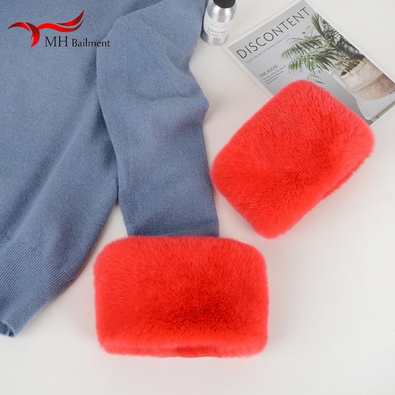 Winter New Rex Rabbit Fur Grass Women's Fashion Warm Sleeve Arm Ankle Wrap 100% Rabbit Hair Cuffs Hot Sale Winter Many Colors
