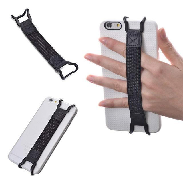 Correa de mano de seguridad cinturón de teléfono móvil correas traseras resistentes a golpes para iPhone X 7 8 Plus Samsung para HUAWEI Mate 9