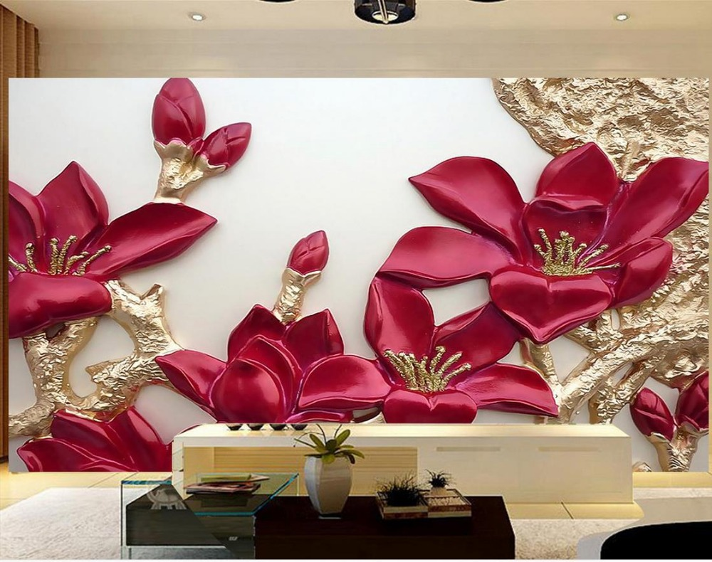 aliexpress com buy relief flowr stereoscopic tv backdrop 3d