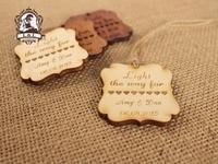 Гравировка дерева теги, пользовательские свадьба sparkler теги-custom Свадьба тегов, свадебной (WDBQ08)