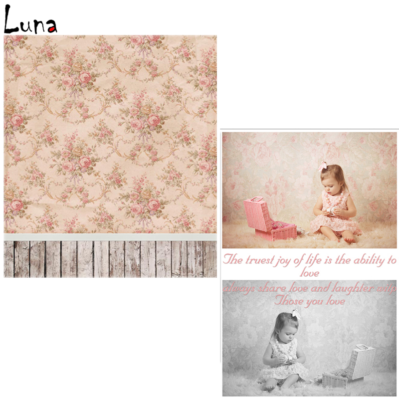 Vinyl Photo Backdrops Floral Wall Oxford Photography Background Wood Floor For Children photo studio Free Shipping  vinyl photo backdrops for photo studio button oxford photography background wood floor for children free shipping