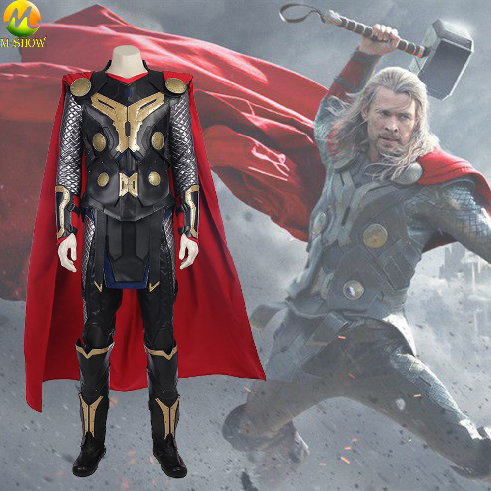 Movie Thor The Dark World Cosplay Costume Superhero Thor Ragnarok Odinson Cosplay Costume Custom Made For