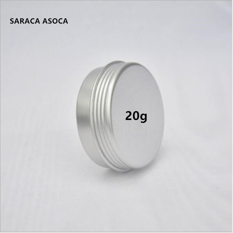 20ml 25ml Empty Refillable Aluminum Jars 20g Silver Metal Tin Cosmetic Containers Crafts Packaging Small Aluminum Box 100pcs/lot