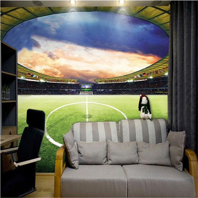 Beibehang Large Wallpaper Mural Custom Any Size Three: Beibehang Wallpaper 3d Large Mural Football Stadium