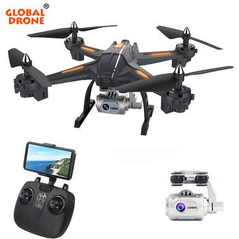 Gobal Drone Wifi FPV Drone With Camera HD Wide Angle 1080P Quadrocopter High Hold RC Dron Easy Remote Control Toys for Children Квадрокоптер