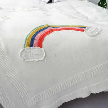 Rainbow Baby Blankets Newborn Cotton Crochet Baby Swaddle Blanket Knitted Kids Blanket Cute Soft Crib Stroller Blanket Children - DISCOUNT ITEM  41% OFF All Category