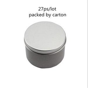 Image 3 - Hurtownie 180g srebrny aluminium świeca Jar Mental pojemniki na świecę Reuse DIY wysokiej jakości pusty słoik z pokrywką 27 ps/partia pusty