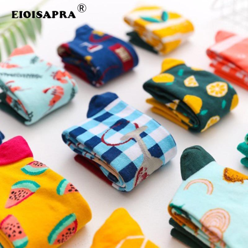 [EIOISAPRA]Movement Casual Hip Hop Snacks Ice Cream Fruit   Socks   Harajuku Vintage Art Trend   Socks   Funny Sokken