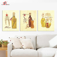 Wall Art Painting Canvas 3 Panel Decorative Wall Pictures Kitchen Modular Canvas Prints For Living Room