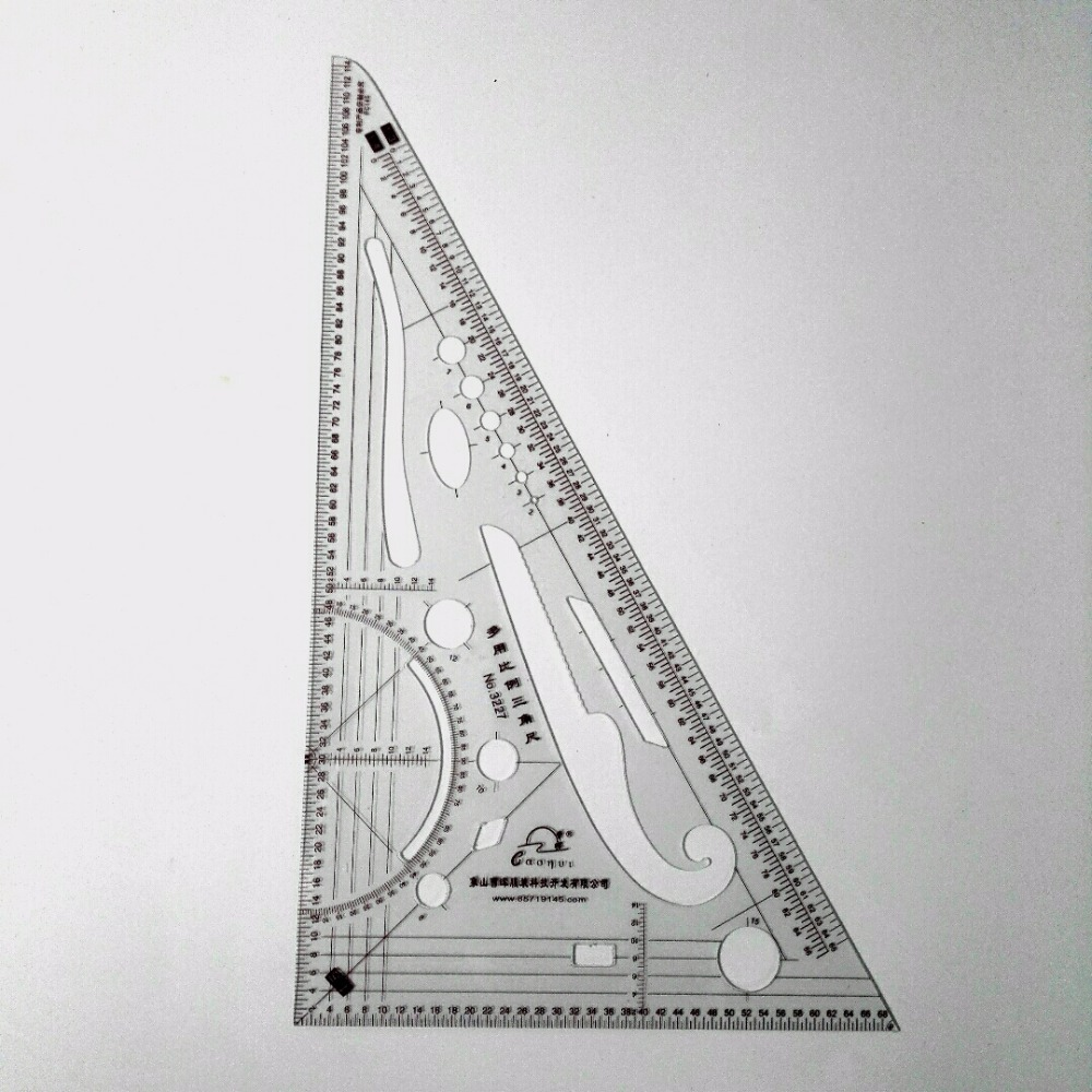 Multi-function Clothes Triangular Scale Cutting Tools Proportion Clothing Triangle Grading Scale Cutting Essential Tool 3227