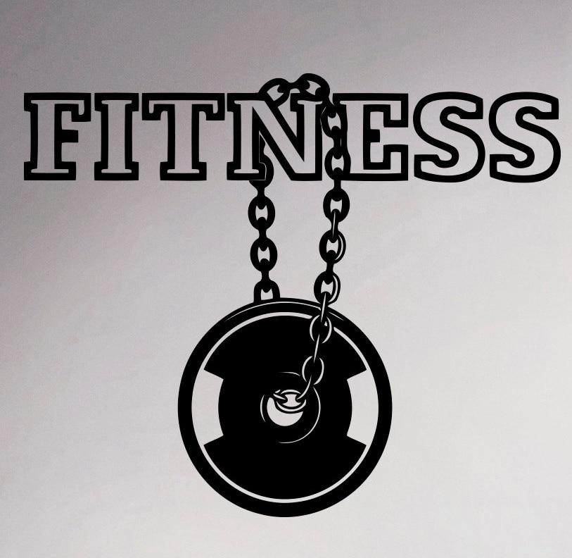 fitness center logo wall vinyl decal gym emblem sticker