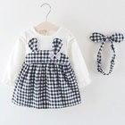 2019 Baby Girl Dress Print Girls Baby Cute Girl Clothes Bow Birthday Party Princess Dress Baby Girls Rabbit Dresses Long Sleeve