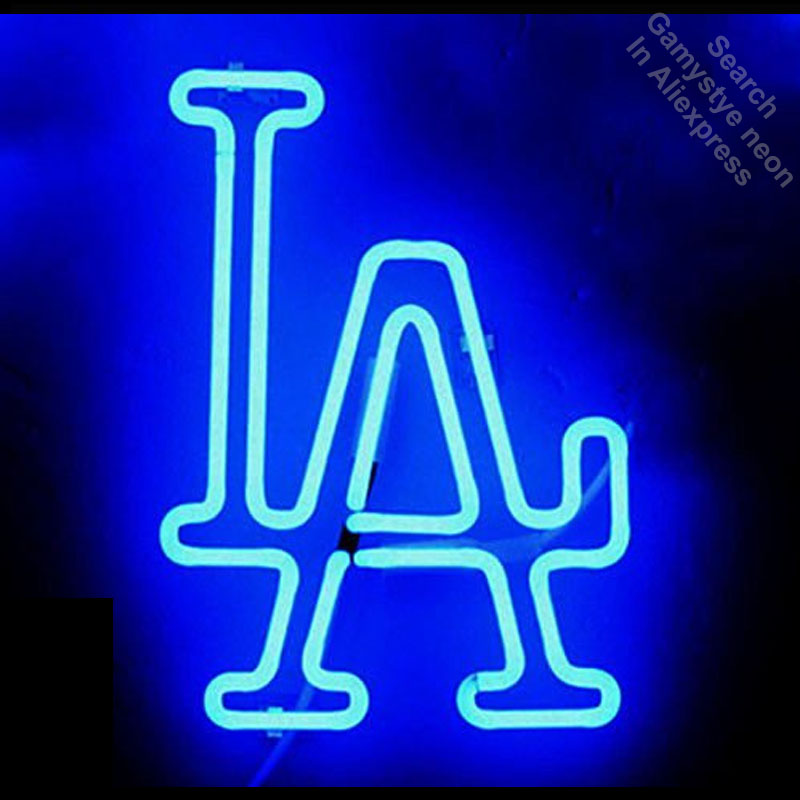 Neon Sign for Sports Team LAD Logo Neon Bulb sign Business Shop Display Handmade Glass t ...