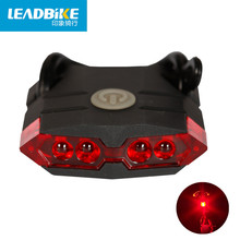 Leadbike New Bicycle Rear Light USB Rechargeable ABS 4 LED Waterproof Taillights MTB Road Bike Accessories Hot Sale FreeShipping