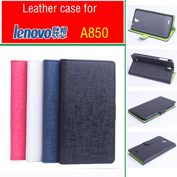 For Lenovo A850 Hit Color Cases Leather Flip Book Wallet Stand Card Holder Phone Case Cover for Lenovo A850
