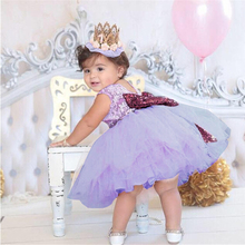 Backless Princess Gold Bow for Christening Gown for Baby Dress Baptism Christening 1st Birthday Party Dress Infant Tutu Vestido