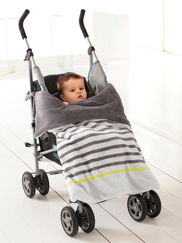 baby stroller blanket, 2 layer Supper Soft Coral Fleece ...
