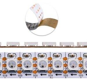 Image 3 - WS2812B DC5V wodoodporna taśma pikselowa led light 1 m/4 m/5 m 2812 IC wbudowana indywidualnie adresowalna lampa taśmowa RGB 30/60/144 leds/m