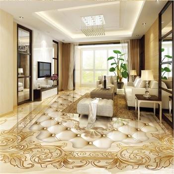 beibehang Golden rose Photo wallpaper mural floor Custom Photo self-adhesive 3D floor PVC waterproof floor Home Decoration цена 2017