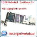 100% original para iphone 5s motherboard sem touch id função, 16 gb desbloqueado para iphone 5s mainboard com batatas fritas, frete grátis
