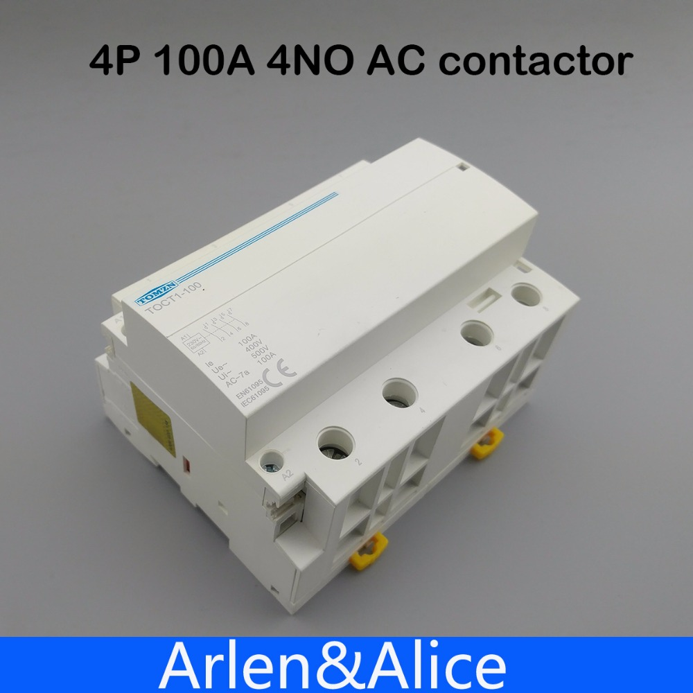 цена на TOCT1 4P 100A 4NO 230V 50/60HZ Din rail Household ac Modular contactor four normal open
