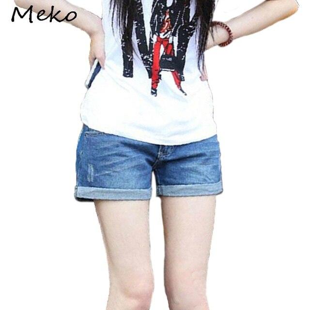 Korean modestil Frauen sommer lose große yards beiläufige vintage curling  jeans-shorts damen jean shorts 19d05957e7
