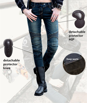 Winter warm Uglybros Featherbed - Ubs02 jeans motorcycle off-road vehicle scooter motorbike pants ladies motor jeans