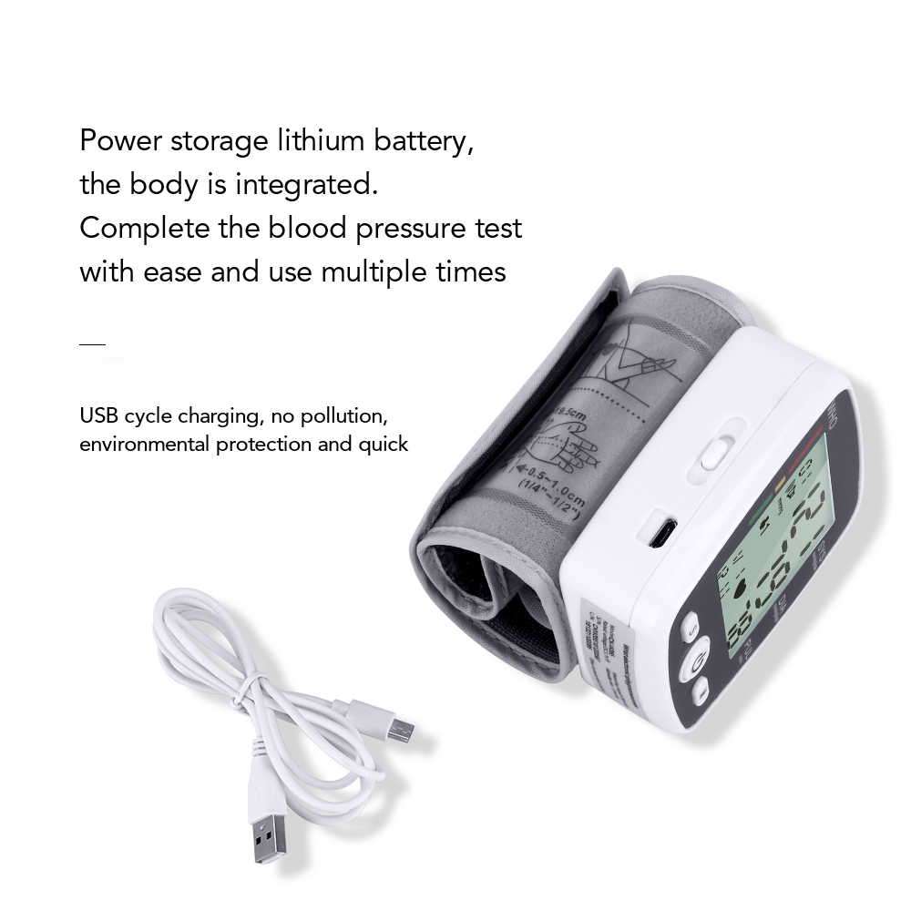 Image 5 - OLIECO Russian Broadcast Rechargeable Wrist Blood Pressure Monitor Automatic Digital Heart Rate PR Measure Meter Russian Voice-in Blood Pressure from Beauty & Health
