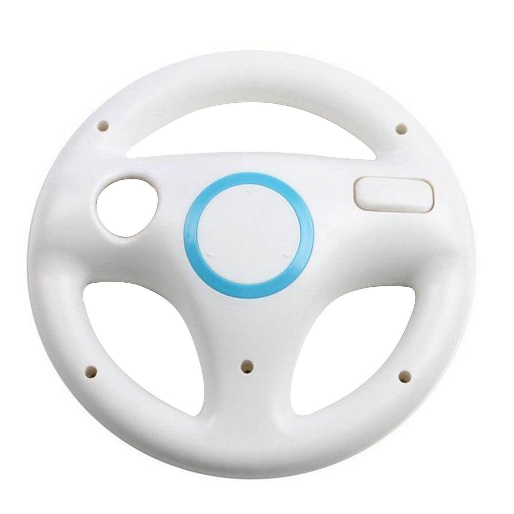 Подарок на Хэллоуин гоночная игра круглый руль пульт дистанционного управления для nintendo для wii - Цвет: Белый