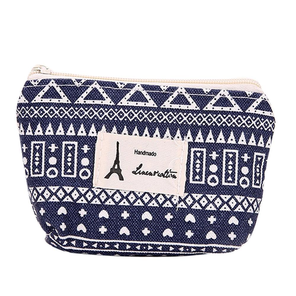 Brand Xiniu Girls Canvas Coin Purse Women Small Wallet Change Bags Cute Pattern Money Pouch Key Card Holder bolsa feminina