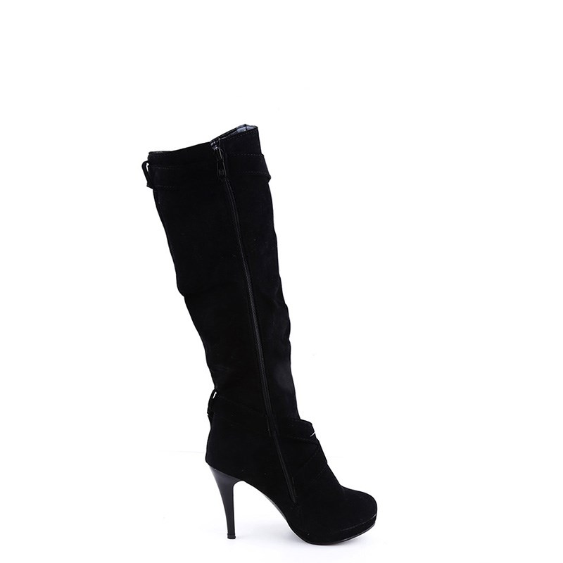 brown Estilo Mujer Botas 1 Negro Elástico Del Delgada Slim gris Moda Zapatos Tacones De Nuevo Mujeres Par Bota Corte Alta Muslo TtPFR