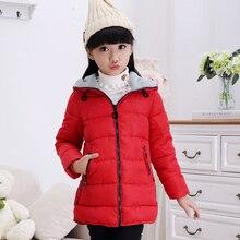 Children's Clothing Winter Girls Wadded Jacket Medium-long Child Thickening Cotton-padded Coats Child Outerwear Girls Parkas