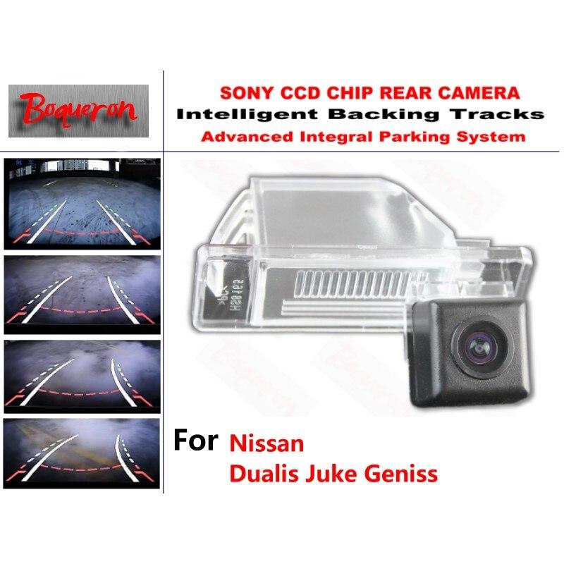 for Nissan Dualis Juke Geniss CCD Car Backup Parking Camera Intelligent Tracks Dynamic Guidance Rear View Camera