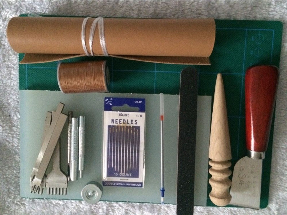 Good Quality Leather Craft Tool Set, 24 In One, Leather Hand Work Tools