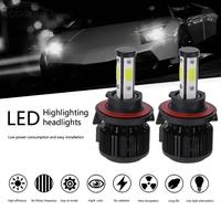 1 Pair Universal 6500K 5000LM H13 LED COB Car Headlight Auto Light Emitting Diode Headlamp Head